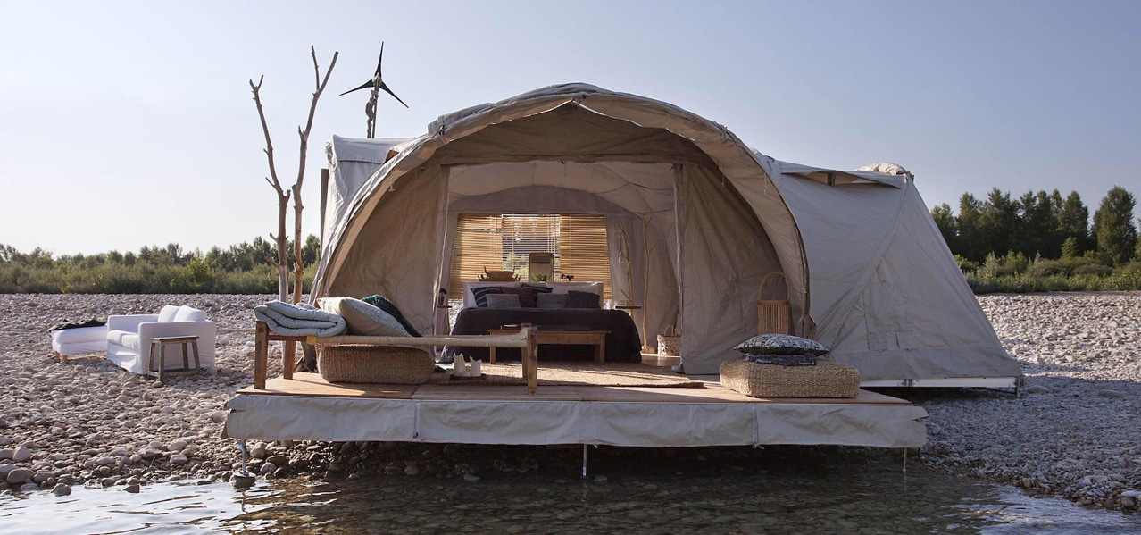 ORIGINAL GLAMPING - LUXURY EPHEMERAL CAMP WORLDWIDE - LODGE TENT